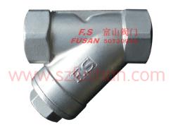 不锈钢丝口Y型过滤器FS811