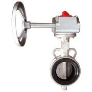 不锈钢对夹式涡轮蝶阀FS038(涡轮头铸铁)